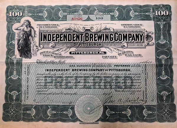 Independent Stock Certificate