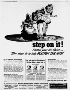 Step on it. Brewers Association 16Dec1942 recycle Chuck