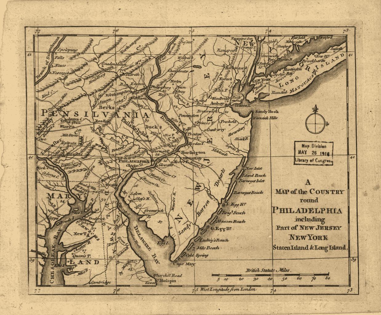 Map of Philadelphia 1776