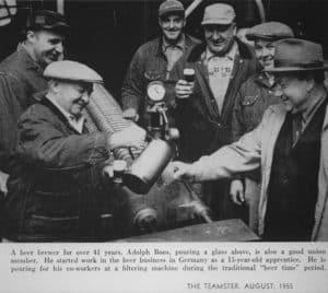 free beer for workers break